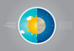 Sun Dial City Weather Clock Illustration