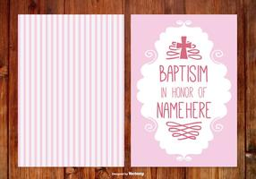 Stripe Baptisim Card for Girl