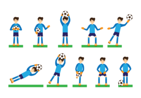 Goal Keeper Action Vector Illustration