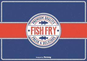 Free Vintage Freitag Fisch Fry Vektor Hintergrund