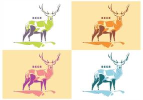 Popart Deer Vector
