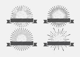 Etiquetas del resplandor solar de la vendimia