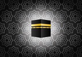 Ka'bah oscura in Mecca Vector