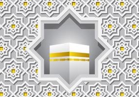 Vector Ka'bah blanco decorativo