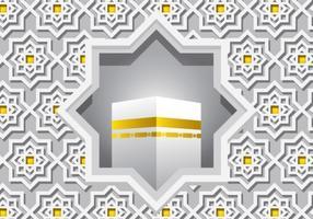 Decoratieve Witte Ka'bah Vector
