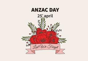 Anzac Day Background Vector