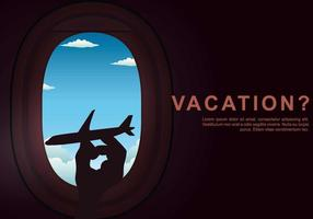 Vacation Plane Window Illustration