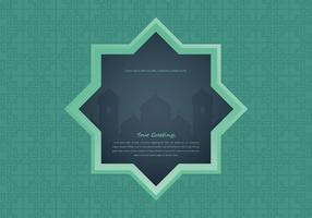 Arabian Night Mosque with Window Illustration vector