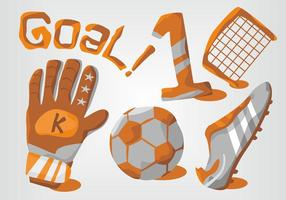 Ensemble de vecteur Goal Keeper