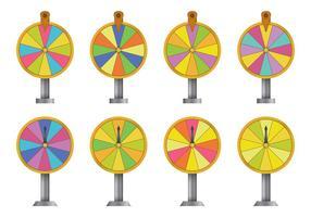 Vecteurs de roue de rotation