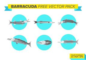 Pack de vecteur libre de barracuda