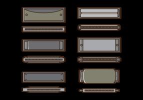 Harmonica Vector Icons