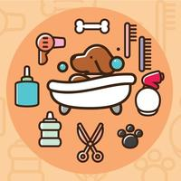 Dog Wash Vector Pictogrammen