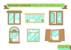 Broken Window Free Vector Pack Vol. 2