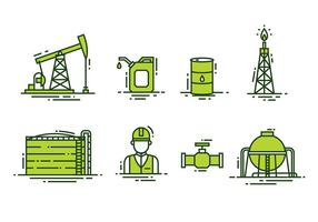 Vecteur champ de pétrole