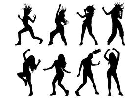 Set Of Zumba Silhouettes vector
