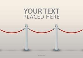 Velvet Rope Text Template