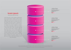 Pink Tower Infographic Template vector