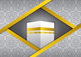 Zilveren Ka'bah Vector