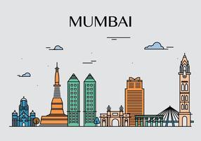 Mumbai landmärkevektorer