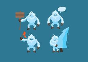 Yeti Cartoon Vector