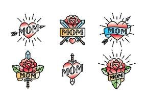 Mom Tattoo Vector Libre