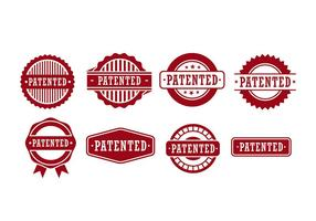 Patent seal vector