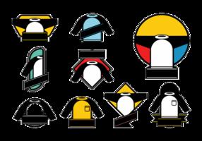 Vettori del modello della bandiera del raglan