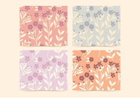 Vector Floral Rosehip Patterns