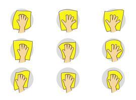 Icono de la mano de Wipe de mano