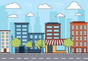 Vecteur paysage urbain gratuit