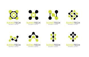Logotipo De La Nanotecnología Vector