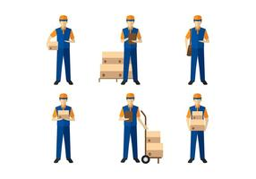 Delivery Man Figure Vector
