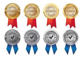 Vektor av patentmedalj