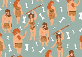 Ice Age Humans Pattern vector