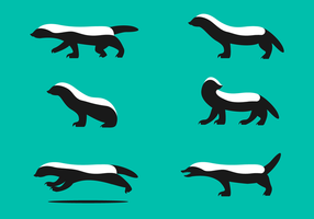 Gratis Honey Badger Vector