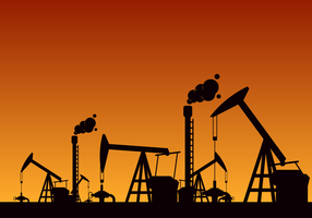 Vector de campo de petróleo livre