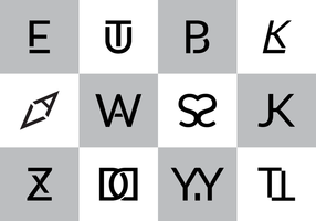 Gratis Monogram Vector