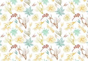 Vecteurs de motif d'herbes libres