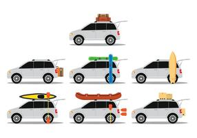 Car With Baggage vector