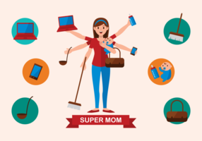 Supermom Vector illustratie