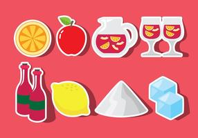 Sangria Icons vector