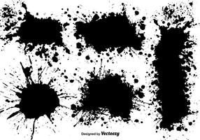 Vector Set De Negro Salpicaduras