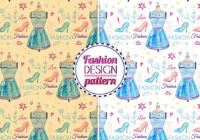 Gratis Vector Waterverf Fashion Pattern