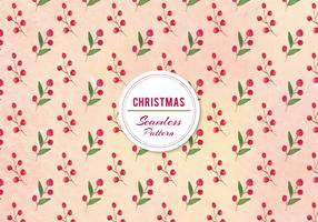 Vector Christmas Berries Pattern