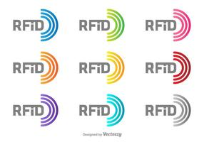 Logotipo del vector RFID