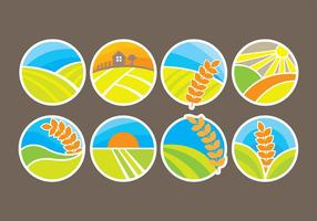 Rice Icons Vectors