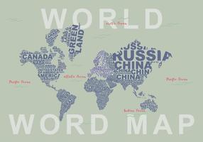 Gratis Word Map Illustration