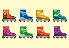 Set Of Roller Blade Icons