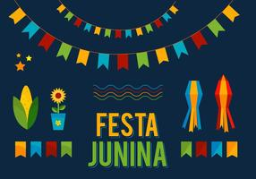 Gratis Vector Junina Elements